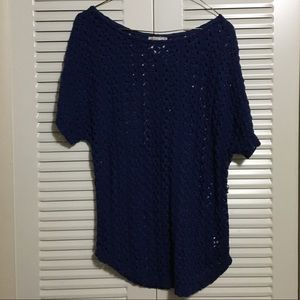 Pretty Rebellious Blue Lace Top Size Small